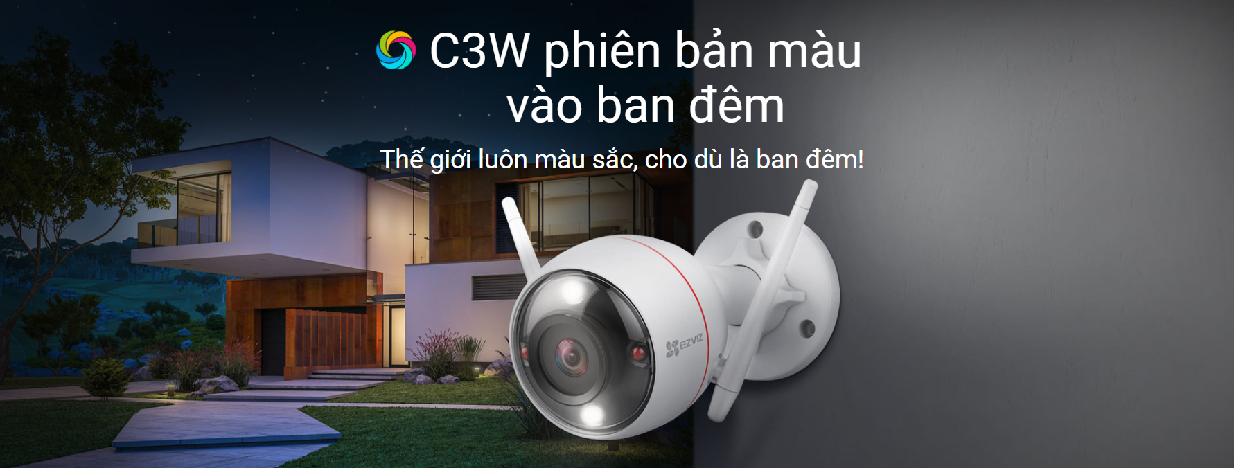 Camera IP Wifi 2MP EZVIZ C3W Color Night Vision 2.0 Megapixel