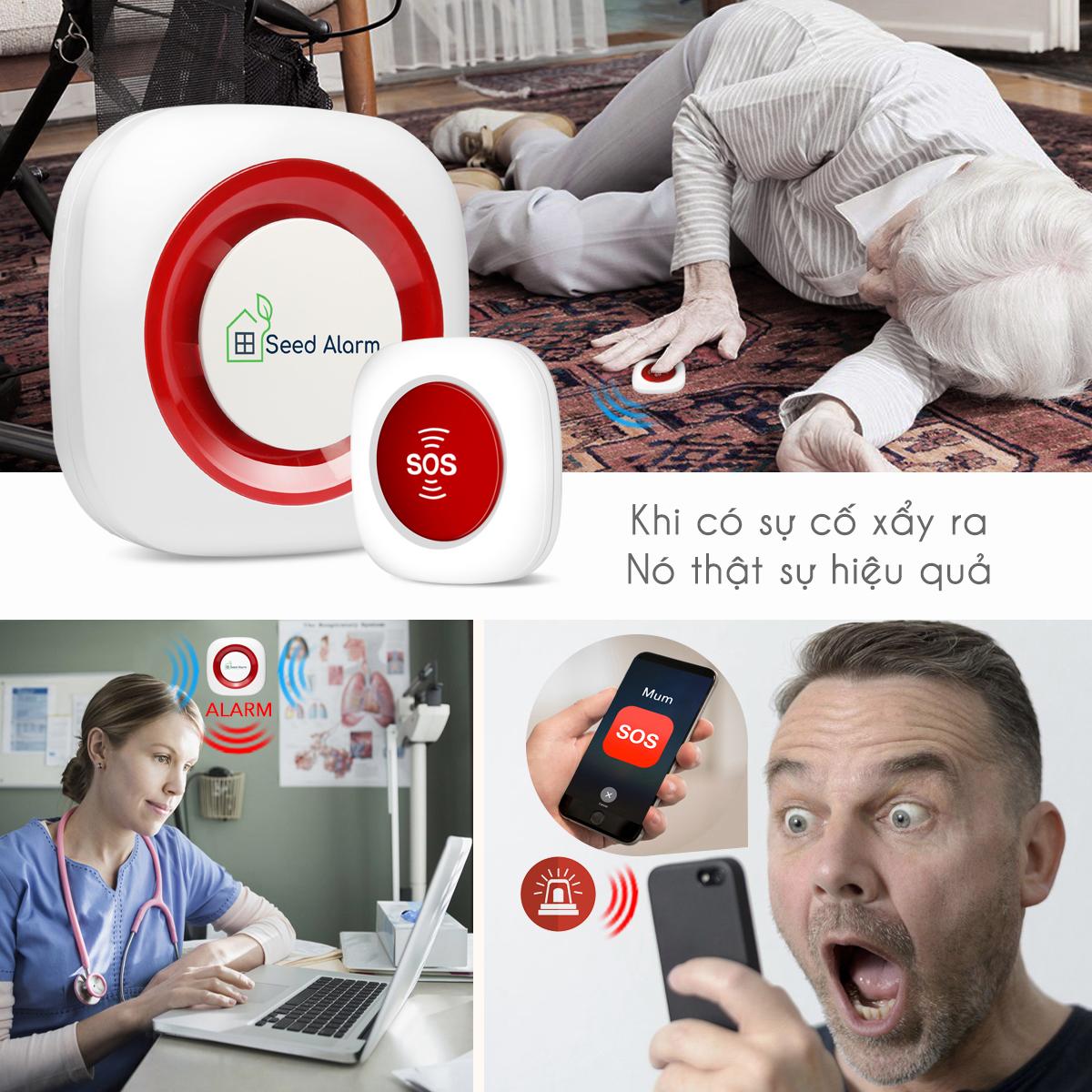 Chuông báo động khẩn cấp cho người già, báo qua điện thoại KOE-2000G